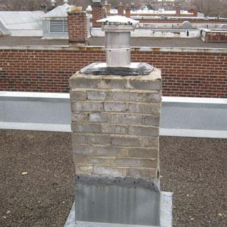 Chimney without crown