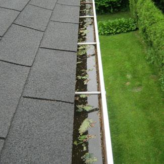 Gutter without protection