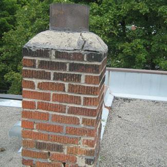 Degraded chimney