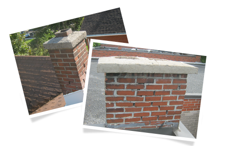 Degraded mortar joints