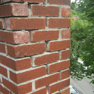 Empty mortar joints