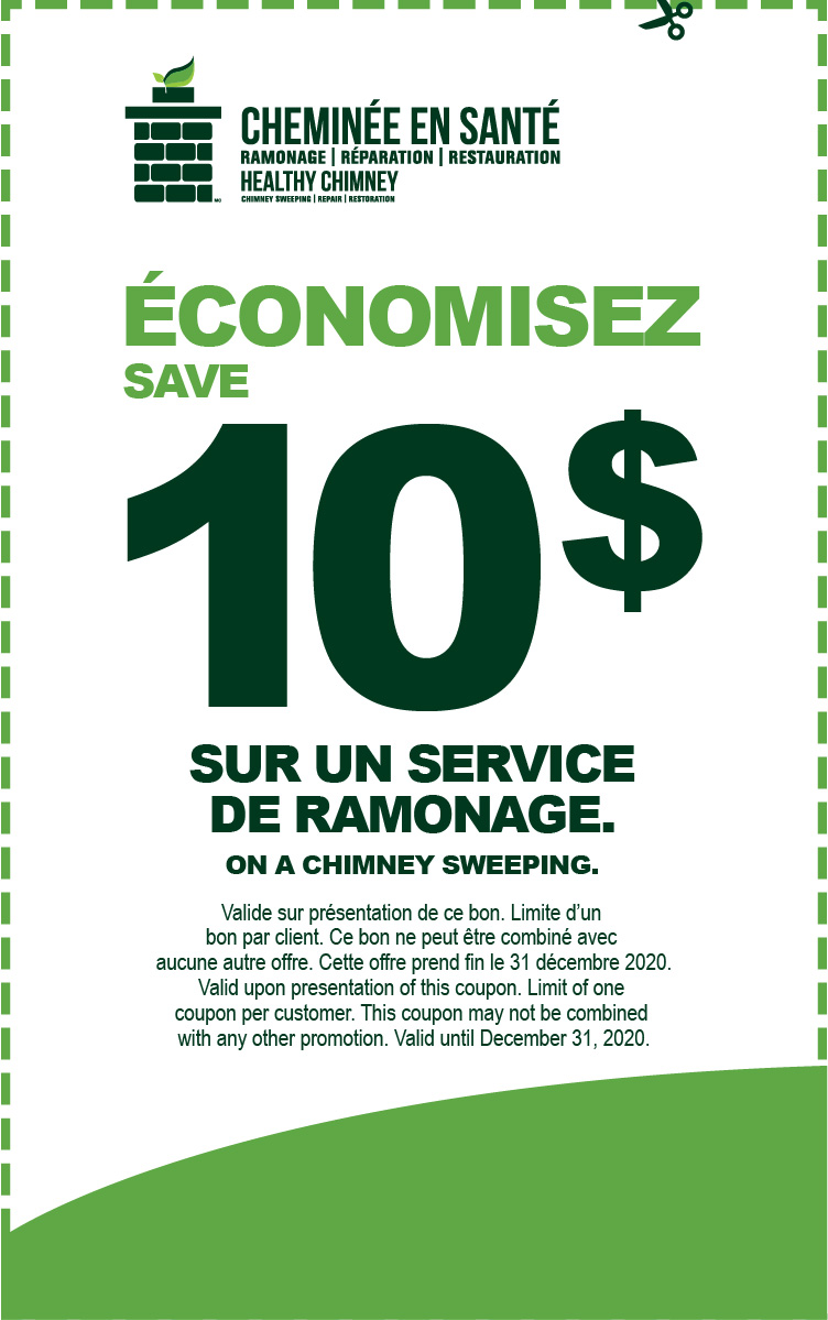 Save 10$ on a chimney sweeping